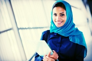 teaching courses in dubai happy female middle eastern university student.jpg